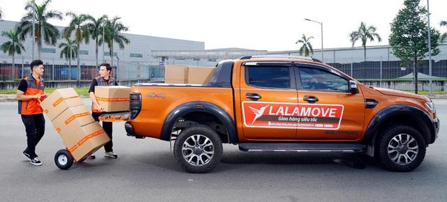 Dịch vụ giao hàng nội thành bằng xe tải của Lalamove được ưa chuộng - Ảnh 1.
