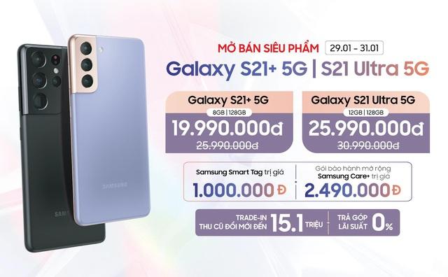 Samsung Galaxy S21 Plus, S21 Ultra 5G lần đầu giảm sâu đến 6 triệu đồng dịp cuối năm - Ảnh 2.