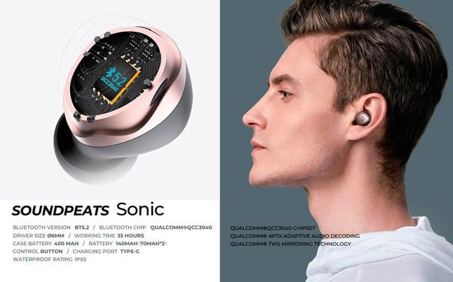 Tai nghe True Wireless SoundPEATS Sonic và SoundPEATS Q Xướng danh siêu phẩm 2021 - Ảnh 3.