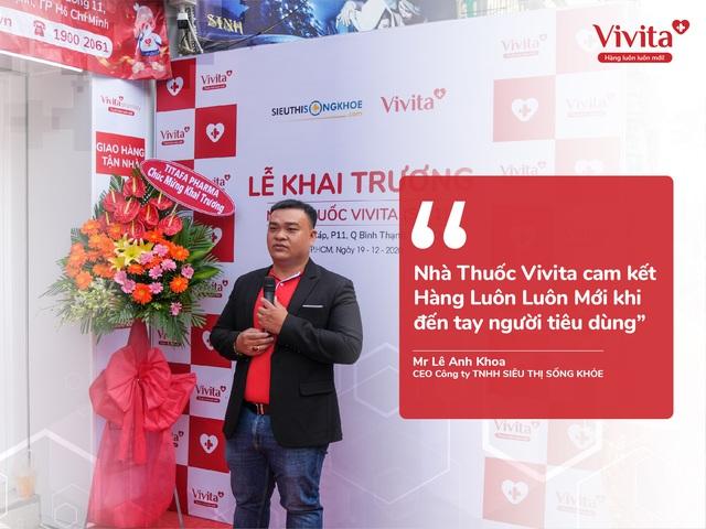 Chủ nhà thuốc Vivita: Tham vọng dẫn đầu bán lẻ vitamin và thực phẩm tại Việt Nam - Ảnh 2.