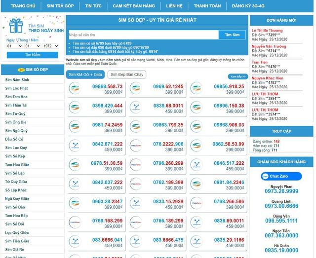 Sim đẹp Online - Hệ thống kho sim số đẹp giá cực tốt - Ảnh 1.
