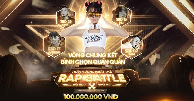TOP 4 chính thức lộ diện, bước vào vòng chung kết cuộc thi Rap Battle ThầnVương Nhất Thế.
