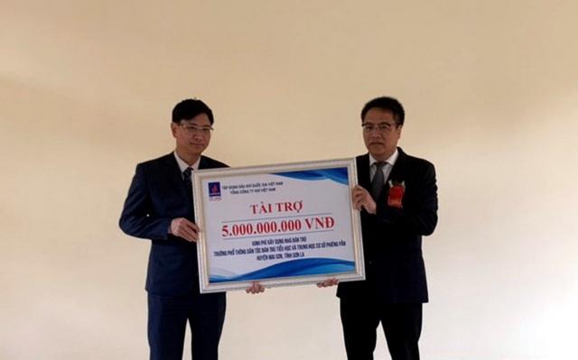 PV GAS tài trợ 5 tỷ đồng xây dựng Nhà bán trú Trường Phiêng Pằn - Sơn La - Ảnh 1.