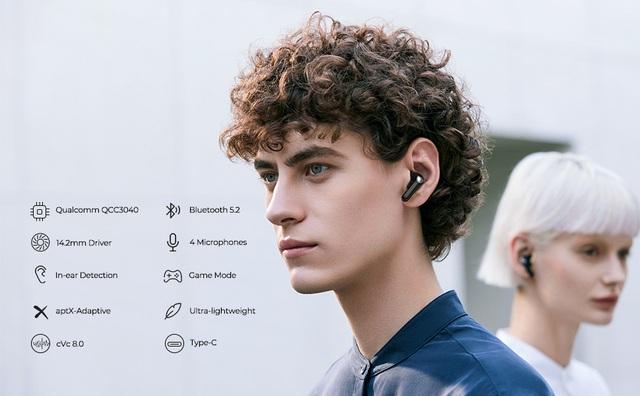 Tai nghe SoundPEATS Air3 cảm biến trong tai, game mode và chất âm hoàn hảo - Ảnh 1.