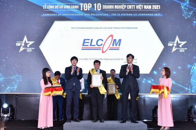 ELCOM Corp nhận cú đúp giải thưởng 'Top 10 doanh nghiệp ICT Việt Nam 2021′ - Ảnh 1.