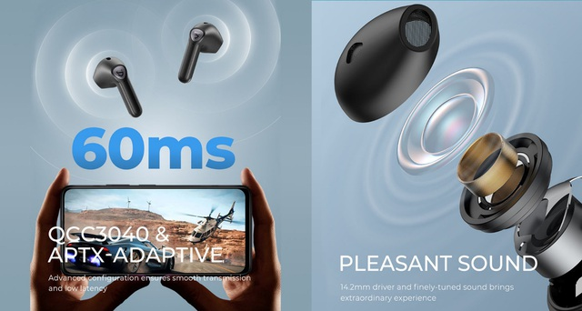 Tai nghe SoundPEATS Air3 cảm biến trong tai, game mode và chất âm hoàn hảo - Ảnh 3.
