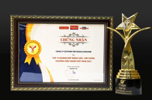 Sunshine Group được vinh danh trong TOP 10 Thương hiệu Mạnh Việt Nam ngành Bất động sản - Xây dựng - Ảnh 2.