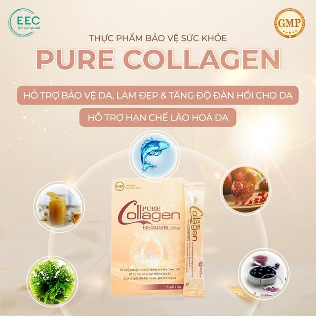 TPBVSK Pure Collagen hỗ trợ làm đẹp da và hạn chế lão hóa da - Ảnh 3.