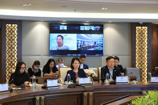 Lãnh đạo cấp cao FLC - FPT bàn cơ hội hợp tác - Ảnh 1.