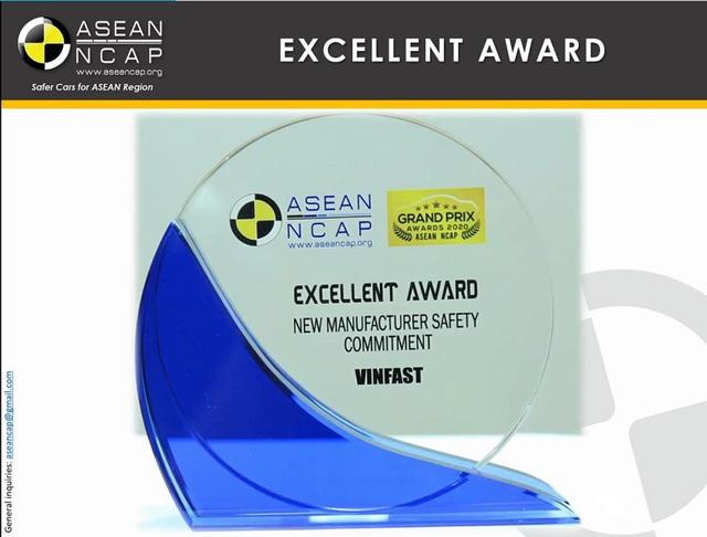 """VinFast đoạt giải """"Hãng xe có cam kết cao về an toàn"""" ASEAN NCAP - Ảnh 1."""