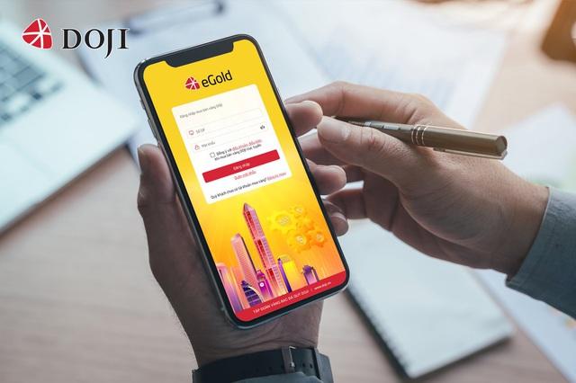 Mua vàng Thần tài trực tuyến siêu tốc qua ứng dụng eGold của DOJI - Ảnh 1.