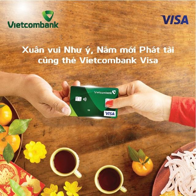 Tết về, hàng ngàn chủ thẻ Vietcombank Visa nhận ưu đãi bất ngờ - Ảnh 1.