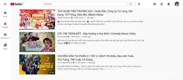 """Táo Quân Tiền Truyện dễ dàng chiếm top 1 trending YouTube, nhiều gương mặt nổi tiếng giới trẻ cũng phải """"phát sốt"""" - Ảnh 1."""