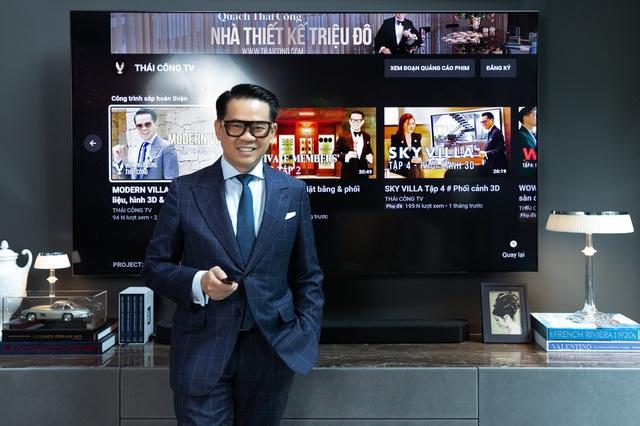TV Samsung: Tuyệt tác nghe nhìn trong cơ ngơi sang trọng của nhà thiết kế Thái Công - Ảnh 1.