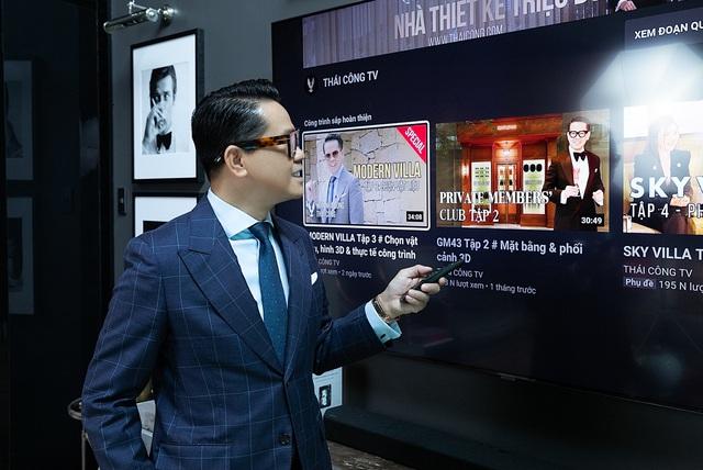 TV Samsung: Tuyệt tác nghe nhìn trong cơ ngơi sang trọng của nhà thiết kế Thái Công - Ảnh 2.