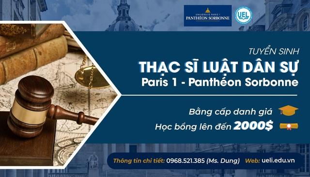 Trở thành thạc sĩ luật dân sự của Panthéon - Sorbonne Paris 1 ngay tại Việt Nam - Ảnh 2.