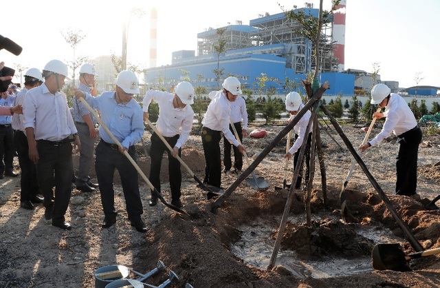 Phát động phong trào 'Tết trồng cây' tại Công ty Nhiệt điện Vĩnh Tân - Ảnh 3.