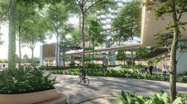 """Ecopark chi nghìn tỷ làm công viên cho 2 tòa tháp """"thiên nhiên"""" nhất khu đô thị - Ảnh 1."""