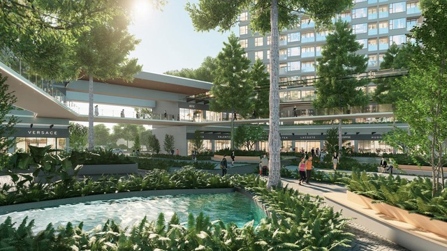 """Ecopark chi nghìn tỷ làm công viên cho 2 tòa tháp """"thiên nhiên"""" nhất khu đô thị - Ảnh 3."""