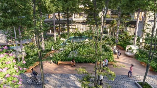 """Ecopark chi nghìn tỷ làm công viên cho 2 tòa tháp """"thiên nhiên"""" nhất khu đô thị - Ảnh 4."""