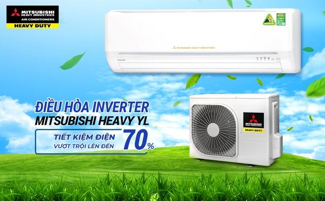 Đặng Văn Lâm giới thiệu các dòng điều hòa Mitsubishi Heavy Inverter tiết kiệm điện - Ảnh 1.