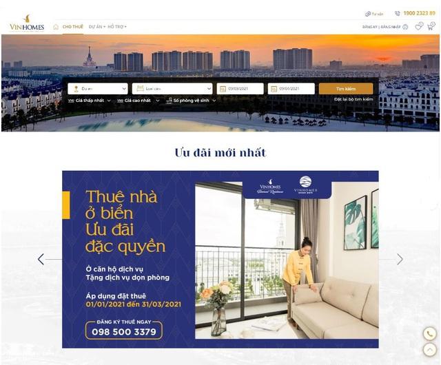 Vinhomes ra mắt sàn giao dịch thuê nhà trực tuyến - Ảnh 1.
