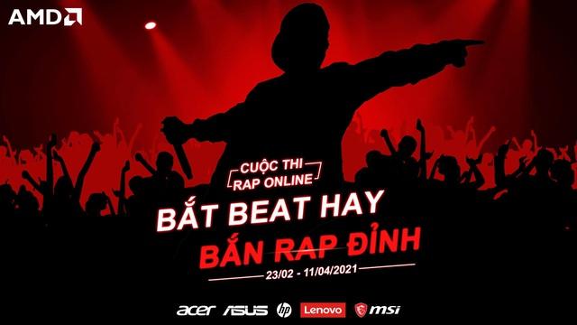 """""""Bắt beat hay, Bắn rap đỉnh"""" - AMD khởi động cuộc thi rap cực chất trên toàn quốc - ảnh 1"""