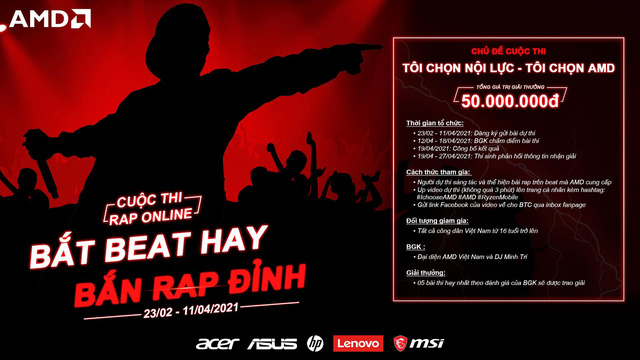 """""""Bắt beat hay, Bắn rap đỉnh"""" - AMD khởi động cuộc thi rap cực chất trên toàn quốc - ảnh 2"""