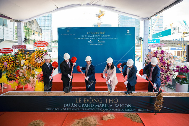 Delta Group động thổ khu bất động sản hàng hiệu Grand Marina Saigon - Ảnh 2.