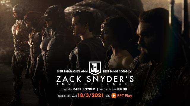 Justice League phiên bản 2021 của Zack Snyder công chiếu trực tuyến độc quyền tại HBO Go trên FPT Play - ảnh 1