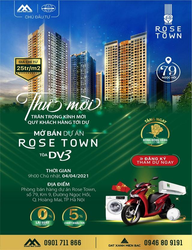 Mua căn hộ Rose Town, cơ hội được nhận xe SH - Ảnh 2.