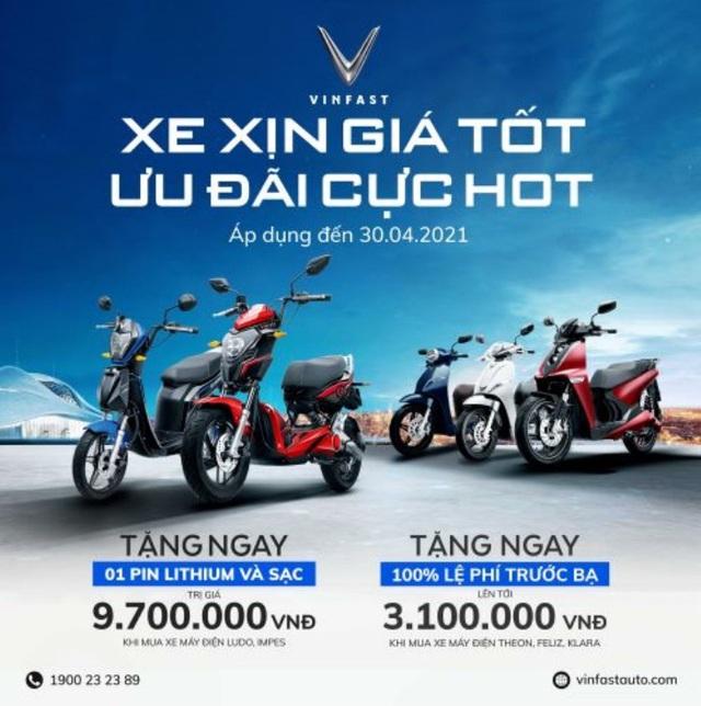 Cơ hội nhận ưu đãi lớn khi mua xe máy điện VinFast trong tháng 4 - Ảnh 1.