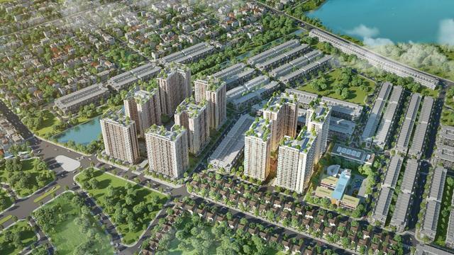 Lễ khởi công dự án chung cư nhà ở xã hội thuộc khu đô thị xanh Bàu Tràm Lakeside - The Ori Garden - Ảnh 1.
