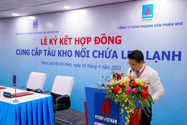 PV GAS và PTSC ký kết hợp đồng cung cấp tàu kho nổi chứa LPG lạnh - Ảnh 2.