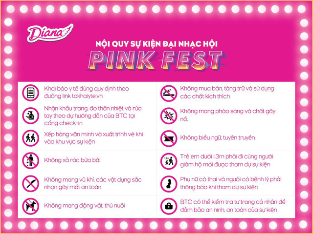 """Bên cạnh âm nhạc, Diana Pink Fest còn bao gồm chuỗi các hoạt động hấp dẫn trong tinh thần """"bình thường mới"""" - ảnh 6"""