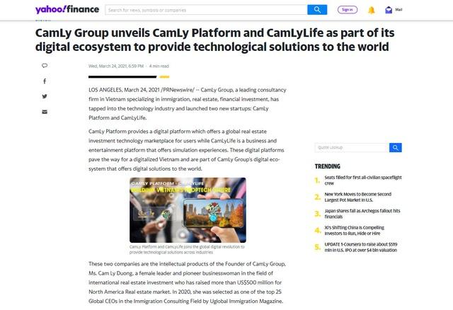 CamLy Group chia sẻ về hai dự án công nghệ được truyền thông quốc tế chú ý - Ảnh 1.