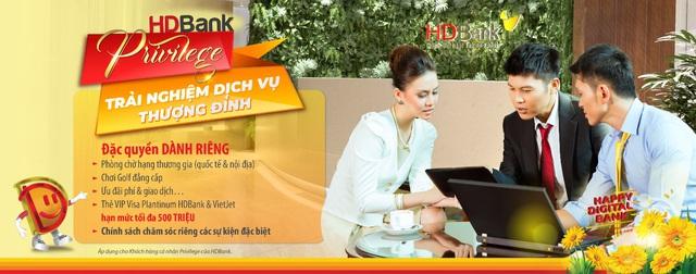 HDBank ra chương trình toàn diện chăm sóc khách hàng VIP - Ảnh 1.