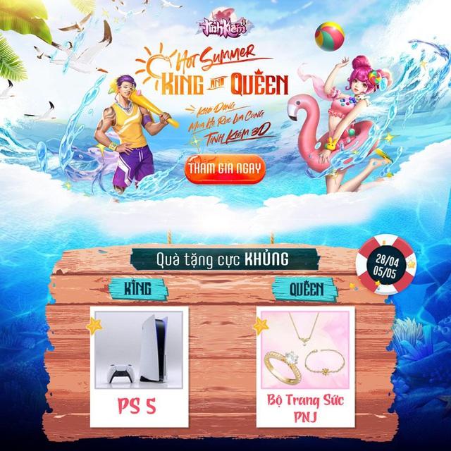 Tình Kiếm treo thưởng PS5 cho Top 1 cuộc thi Bikini: Hứa hẹn đốt cháy mùa hè của anh em game thủ ngay từ vòng đầu tiên - Ảnh 2.