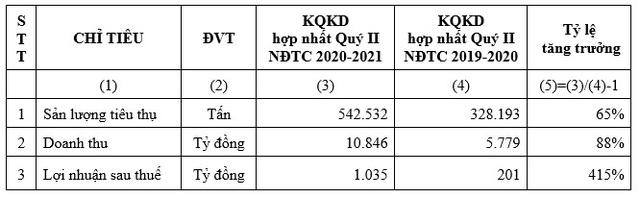 HSG: Quý II NĐTC 2020-2021 lợi nhuận sau thuế 1.035 tỷ đồng, lũy kế 6 tháng đạt 1.607 tỷ đồng - Ảnh 1.