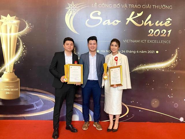 TopCV nhận cú đúp giải thưởng Sao Khuê 2021 - Ảnh 1.