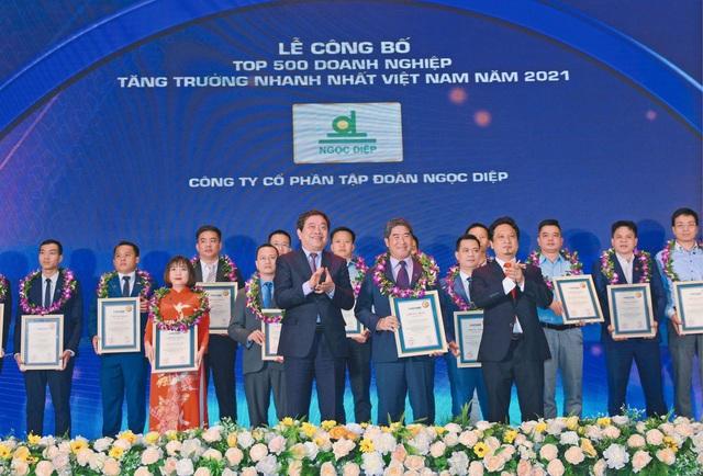 Tập đoàn Ngọc Diệp đạt Top 500 doanh nghiệp tăng trưởng nhanh nhất Việt Nam 2021 - Ảnh 1.