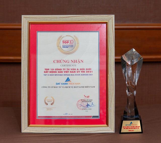 Đất Xanh Miền Nam đạt Top 10 công ty BĐS Việt Nam uy tín năm 2021 - Ảnh 1.