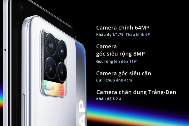 Mãn nhãn với màn hình AMOLED trên smartphone realme 8 mới nhất - Ảnh 3.