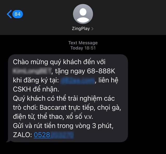 Cổng game giải trí ZingPlay lên tiếng cảnh báo người dùng khi xuất hiện lừa đảo qua tin nhắn - Ảnh 1.
