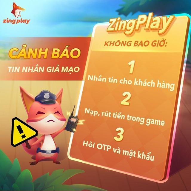 Cổng game giải trí ZingPlay lên tiếng cảnh báo người dùng khi xuất hiện lừa đảo qua tin nhắn - Ảnh 2.