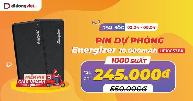 1000 suất mua pin dự phòng Energizer 10.000mAh UE10053 giảm 55%, chỉ còn 245 ngàn đồng - Ảnh 1.