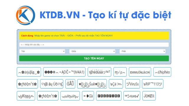 Cách tạo kí tự đặc biệt đặt tên game tại KTDB.VN - Ảnh 1.