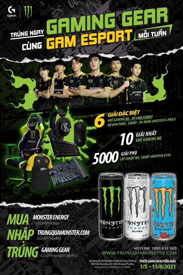 Cơ hội nhận ngay Gaming Gear chuyên nghiệp từ đội tuyển GAM eSports và Monster Energy - Ảnh 3.