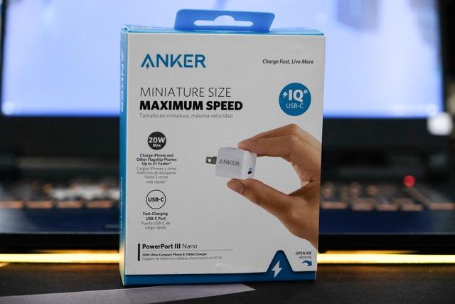 Sạc siêu nhanh, siêu gọn Anker PowerPort III Nano 20W - Ảnh 1.