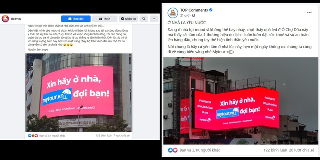 Mytour.vn khuyến khích người dân ở nhà bằng những màn hình LED khắp Hà Nội - Ảnh 4.
